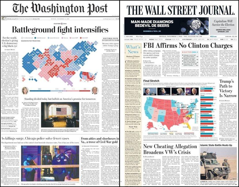 過往報紙頭版未見大篇幅的民調分析,如今數字卻佔據了多數媒體的頭版。隨著投票日逼近...