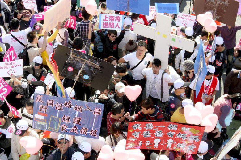反同論述經常訴諸「國家民族的自我榮耀」策略,暗示台灣作為一個高度自由國家的脈絡下...