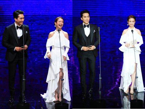 韓國男神級的歐巴宋承憲與「晨神」林依晨擔任頒獎人,2人中文韓語交錯頒獎。