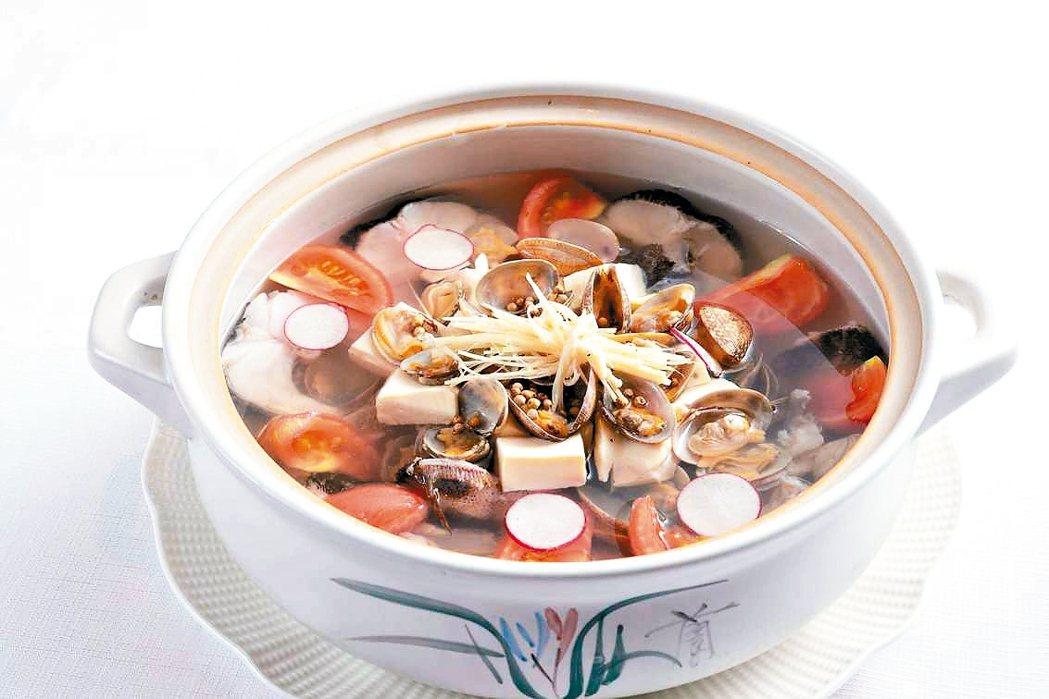 薑絲筍殼魚海瓜子湯