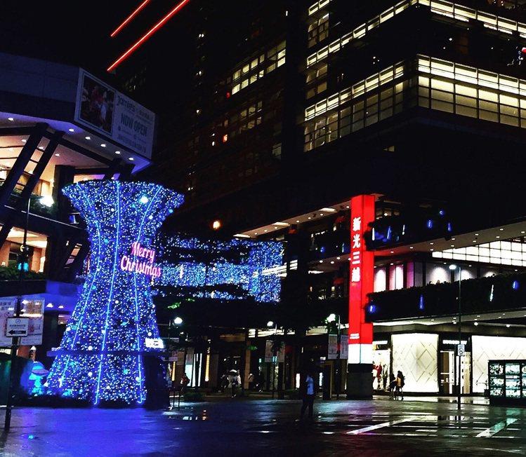 新光三越台北信義新天地A11,潘朵拉星球耶誕樹。圖/新光三越提供