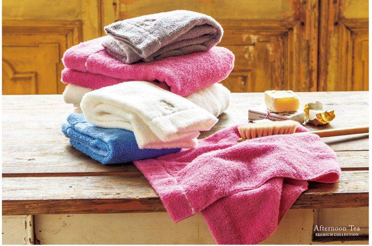 極致簡約毛巾觸感纖細棉柔,並擁有吸水性。圖/Afternoon Tea提供