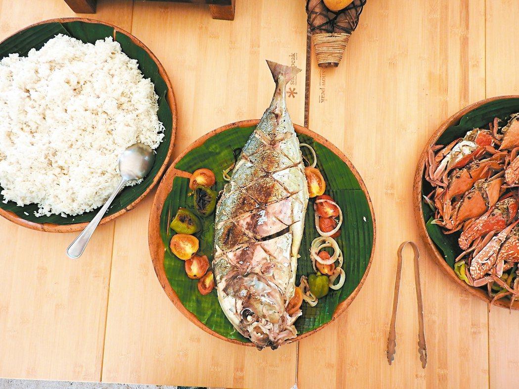 跳島不能錯過的美食就是海鮮。 記者魏妤庭/攝影