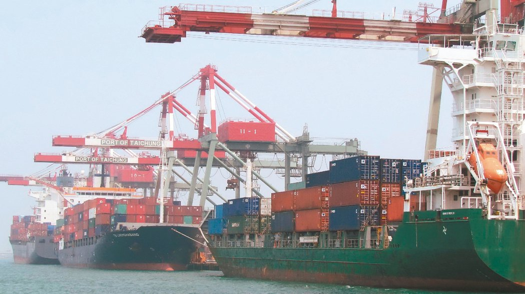 出口數創2013年2月以來最大增幅。 聯合報系資料照