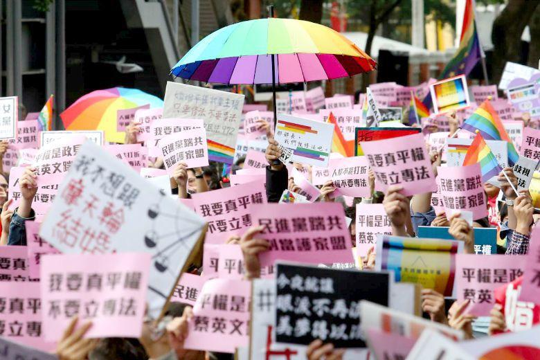 反對的人才是少數,贊成婚姻平權早已成為臺灣主流。 攝影/記者王騰毅