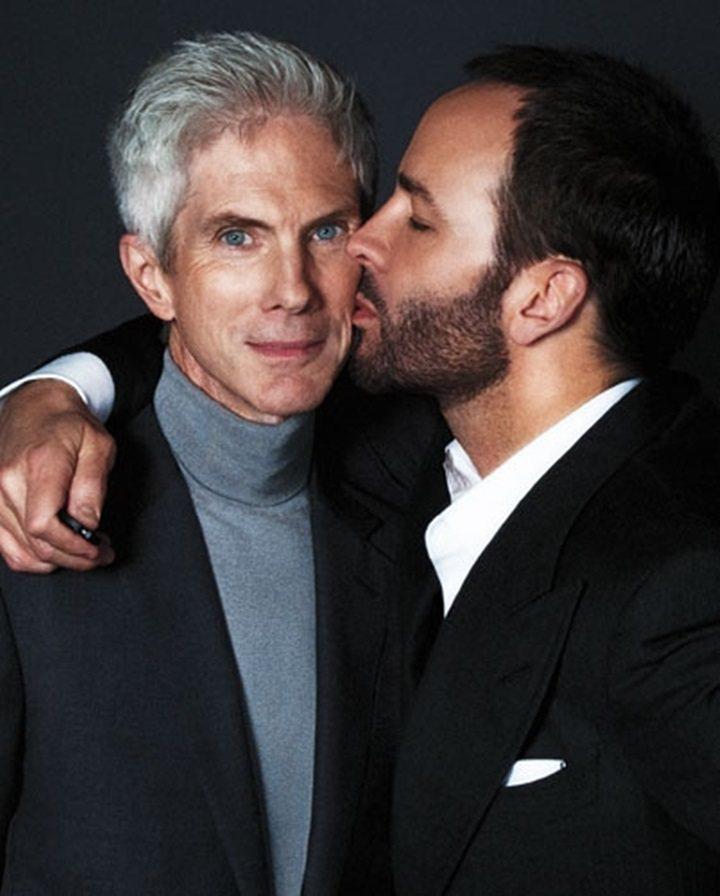 時尚設計師Tom Ford與大13歲的法國時尚雜誌前總編理查巴克利交往近30年,...