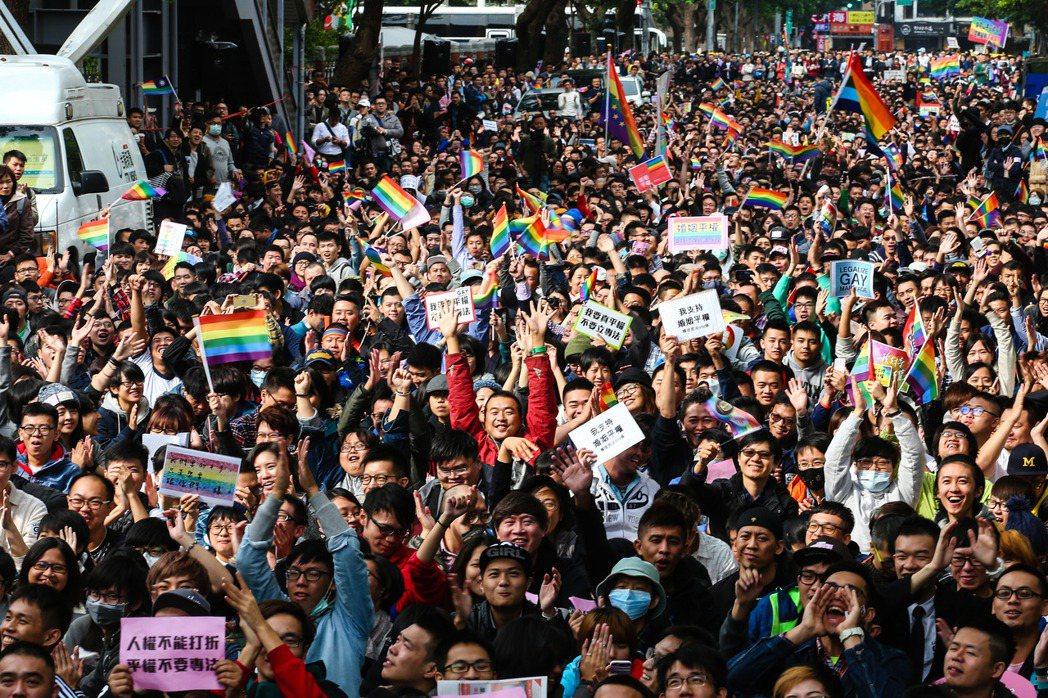 同性婚姻立法風波不斷。圖/聯合報系資料照
