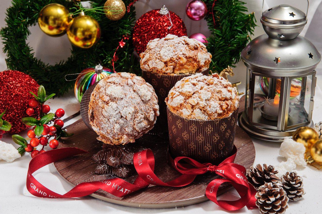 台北君悅酒店Baguette禮品烘焙坊的Pannetone麵包,每個售價400元...