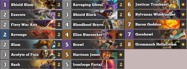※牌組可能會有炎魔、王牌獵人或是一些針對卡。