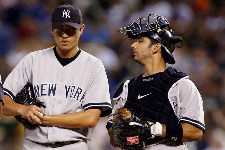 波薩達(右)是台灣球迷最熟悉的大聯盟名捕,雖然有四次世界大賽冠軍加持,但生涯安打...