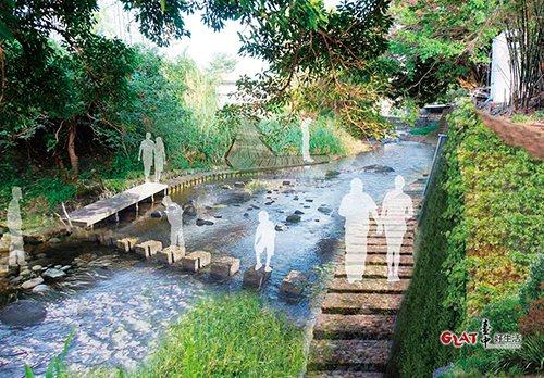 流經沙鹿區的南勢溪,被定位為生態河,將以減少汙染源排入河中為整治重點。圖為規畫想...