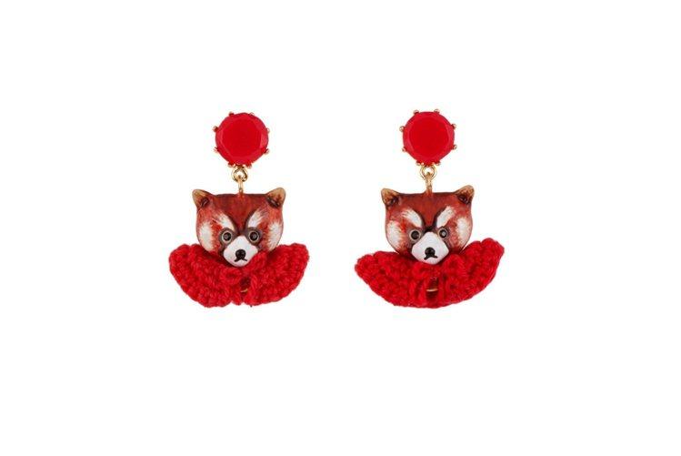 浣熊小紅帽蕾歐妮系列耳環,4600元。圖/Les Nereides提供