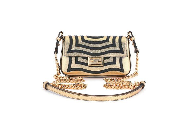 FENDI耶誕節 推出Baguette包, 金色黑色幾何線條 詮釋奢華,...