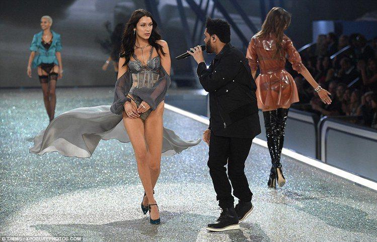 Bella Hadid 與前男友The Weeknd。圖/擷自每日郵報