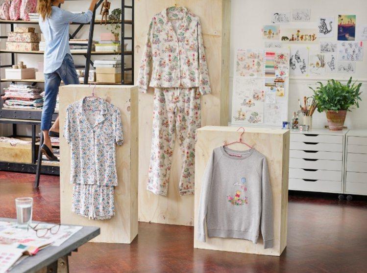 Cath Kidston與小熊維尼推出聯名居家服,超級卡哇伊。圖/Cath Ki...