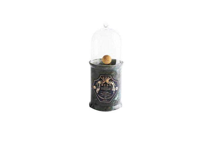 BULY1803香氛蠟燭日本檜木炭,以大理石燭台搭配鐘罩,300g、5,800元...