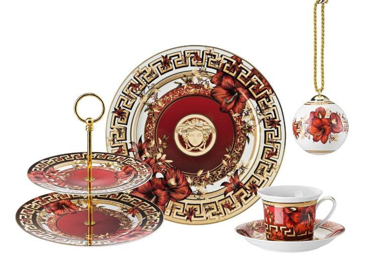 羅森泰遇見凡賽斯的新餐瓷,很有節慶味。圖/集雅廊提供