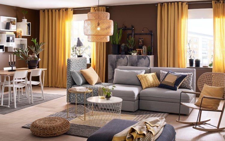 抱枕、披毯之外,溫暖的地毯也可出動。圖/IKEA提供
