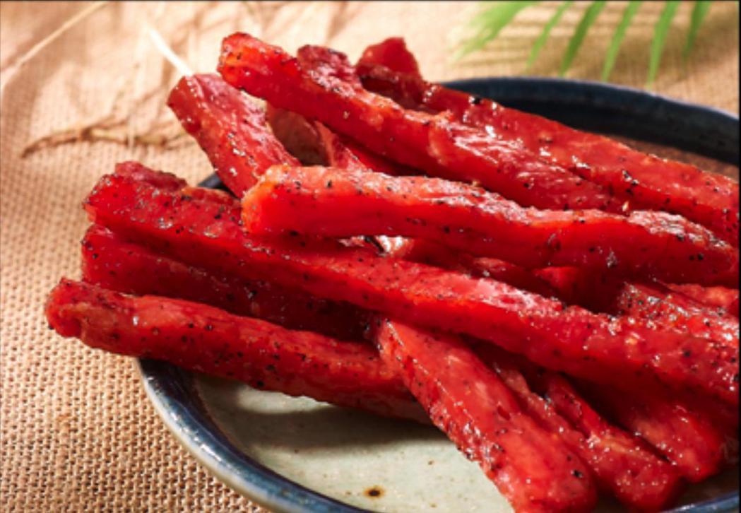 台灣人最愛零食第1名為蜜汁肉干。圖/PChome商店街提供