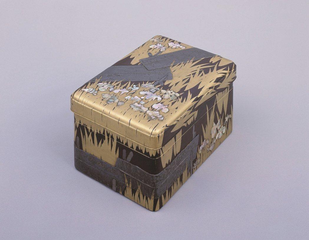 圖為尾形光琳「蒔繪螺鈿八橋硯盒」。 圖/東京國立博物館提供