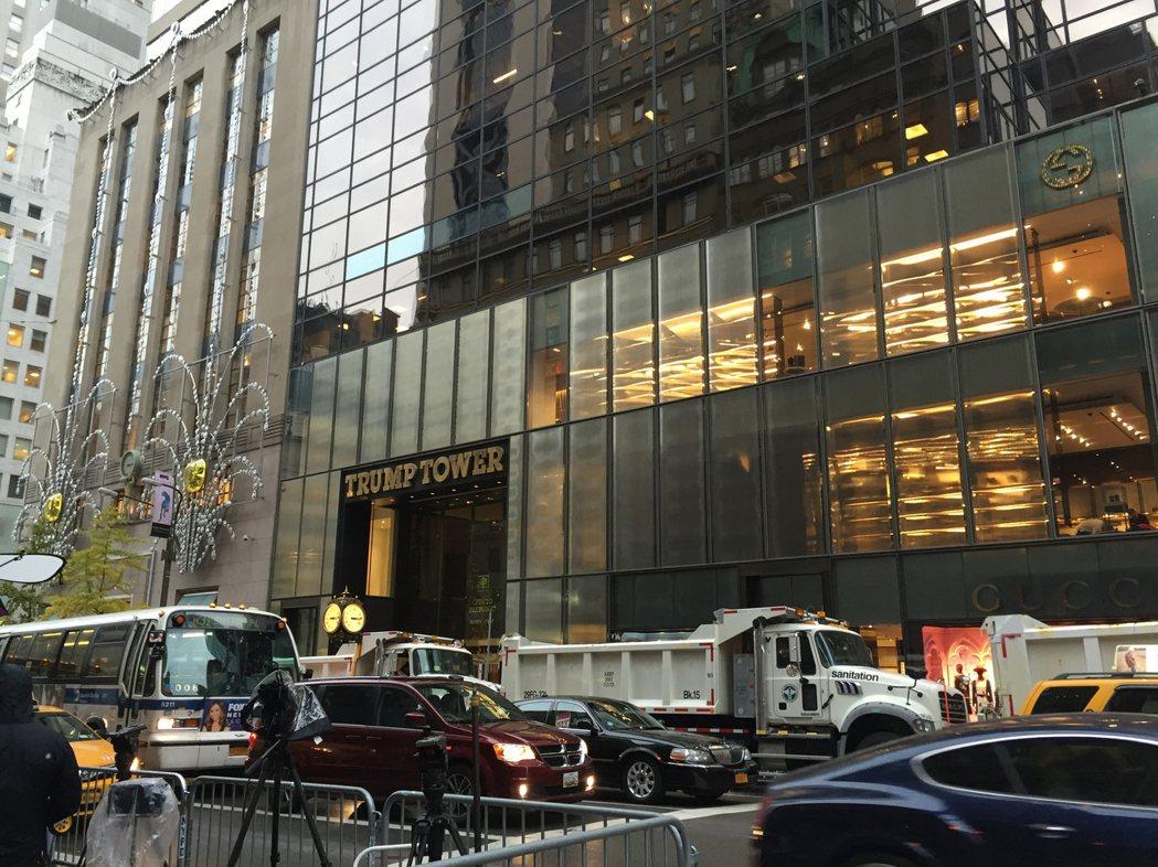 圖為曼哈頓第5大道川普大樓。 中央社