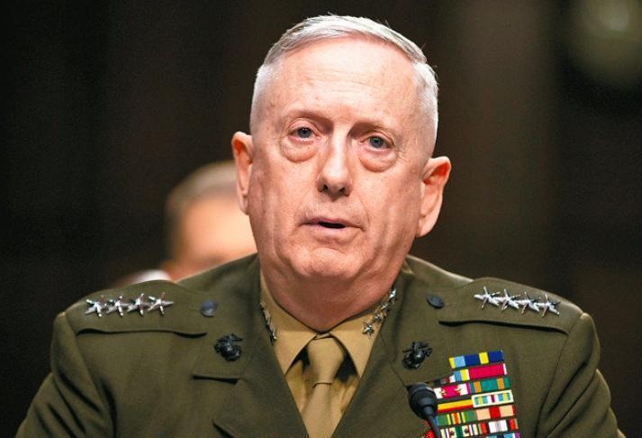 美國總統當選人川普1日表示,將提名退役陸戰隊上將馬提斯(James Mattis...