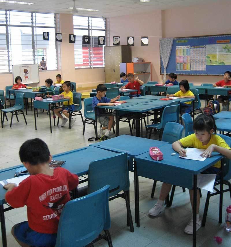 新加坡小學生。報系資料照
