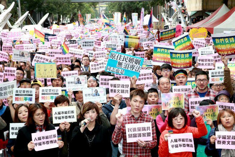 人們站出來支持4%-10%的少數,是台灣世代意識急遽翻轉的跡象。 圖/聯合報系資...
