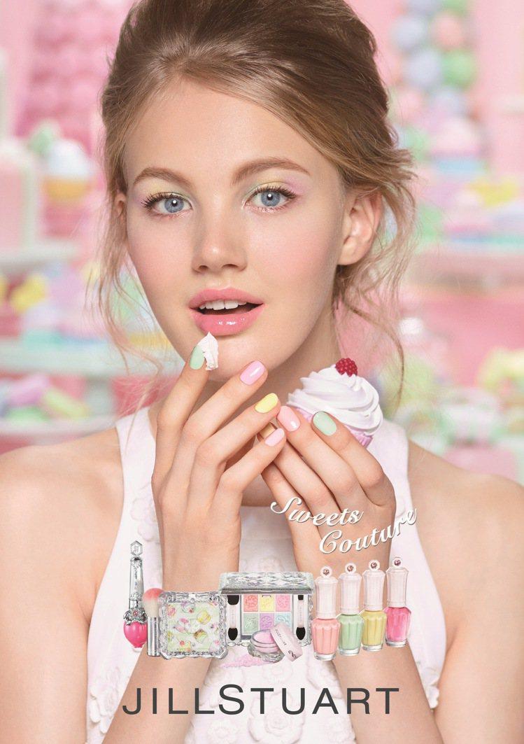 JILL STUART吉麗絲朵2017春妝「甜點主義」就將色彩繽紛的甜點融入彩妝...