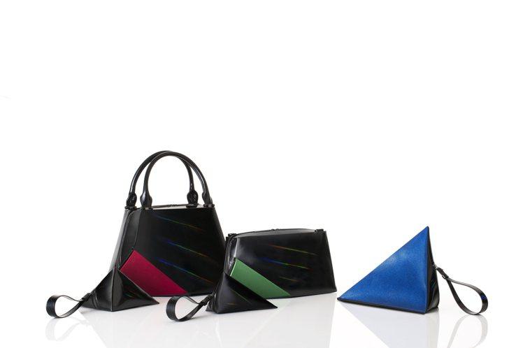 三宅一生推出「發現光的色彩」系列包款。圖/ISSEY MIYAKE提供