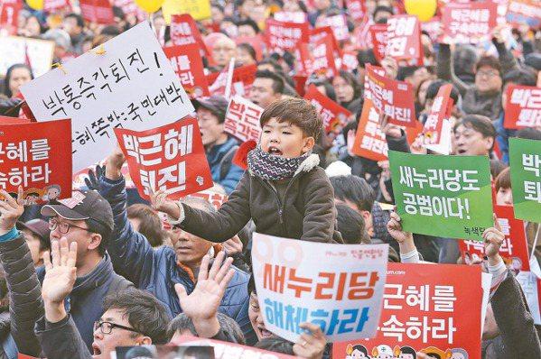 連6周示威要朴槿惠下台 南韓遊行人數破紀錄
