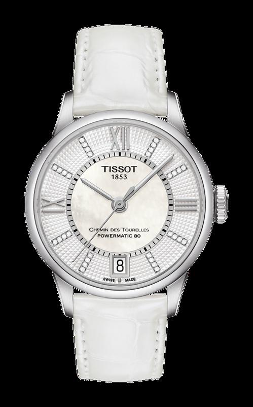 天梭杜魯爾系列機械動力女款腕表,28,100元。圖/TISSOT提供