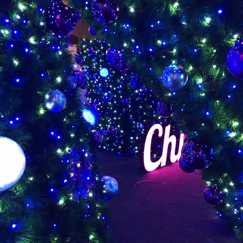 新光三越信義新天地的潘朵拉星球耶誕樹,內部搭配燈光及高科技樹洞感應效果,充滿奇幻...