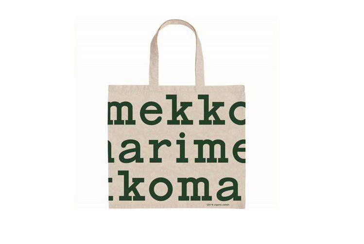 Marimekko耶誕限定Logo袋。圖/Marimekko提供
