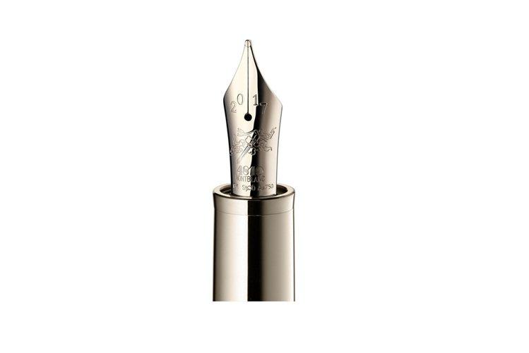 萬寶龍十二生肖系列「尋龍之旅」書寫工具蛟龍限量款88,香檳金筆尖鐫刻的圖案象徵「...
