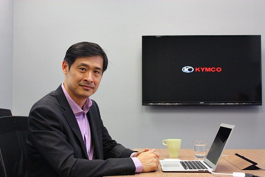 KYMCO光陽機車董事長柯勝峯。 記者林和謙/攝影