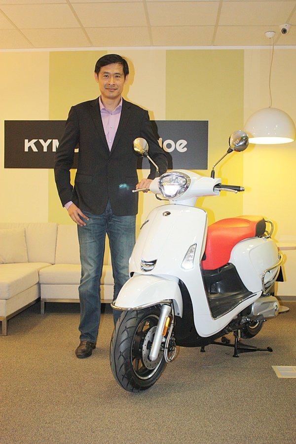 KYMCO光陽機車董事長柯勝峯表示,光陽努力去瞭解騎士的需求,開發出Noodoe...