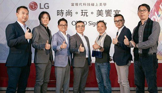 從左至右:台灣LG電子企業應用方案業務部經理-康彥騰、周天民、台灣LG電子企業應...