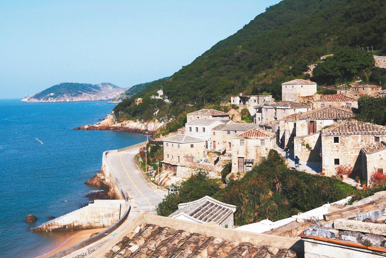 依山而建的芹壁村,有著「亞洲地中海」的美譽。 記者陳睿中/攝影