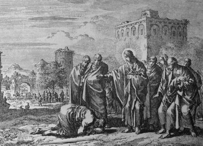 耶穌曾接近整個社會都賤斥的麻瘋病人,以手撫摸為病患治療,「以公道對待被壓迫的人」,所有的生命都是寶貴的。 圖/維基共享