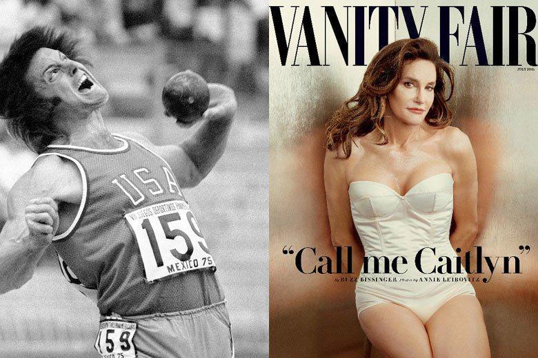 1976年蒙特婁奧運十項鐵人得主Bruce Jenner(左),在經過賀爾蒙的療程與整形手術之後,如今以女性化的Caitlyn Jenner身份登上《浮華世界》雜誌封面。 圖/美聯社