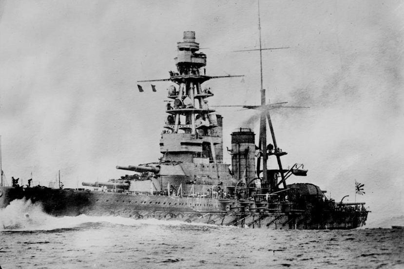 1921年英美在華盛頓海軍會議上對日主張廢除的陸奧號戰艦,陸奧號戰艦的存廢因而成...