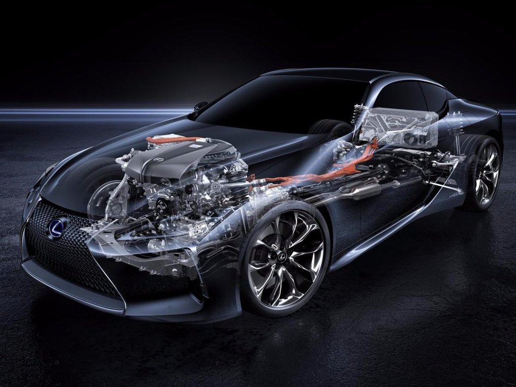 LC 500h則搭載著全新Multi Stage Hybrid多段式油電複合動力系統。 圖/Lexus提供