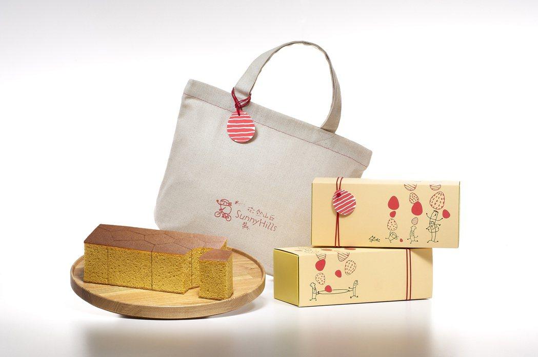 微熱山丘今年新產品「蜜豐糖蛋糕」,近日正式推出「彌月客製包裝」。圖/微熱山丘提供