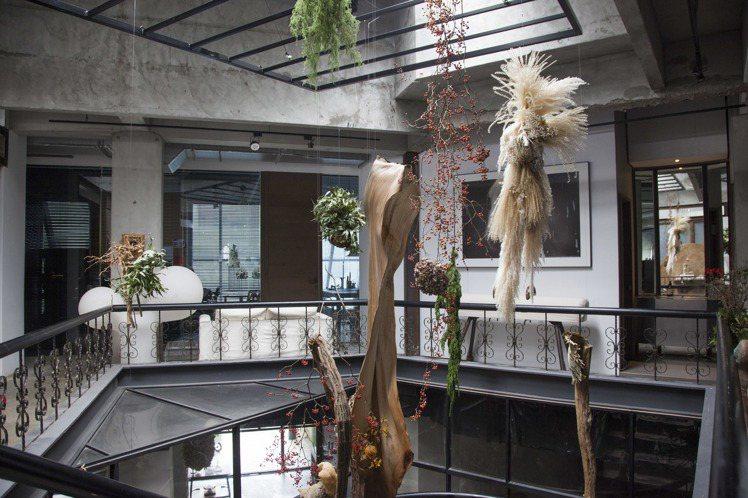 L&F花藝進駐歐藝旅集的展覽。圖/JAMEI CHEN提供