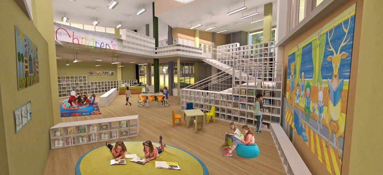 新竹市規劃新建關埔國小,校園與教室設計都突破傳統。圖/新竹市府提供