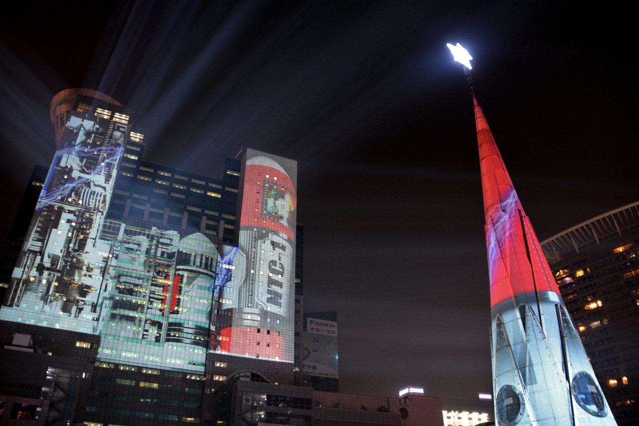 新北歡樂耶誕城。中央社記者黃旭昇新北市攝