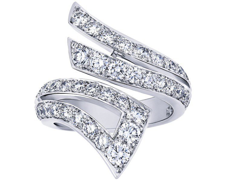 Phenomena Stream鑽石戒指。圖/De Beers提供