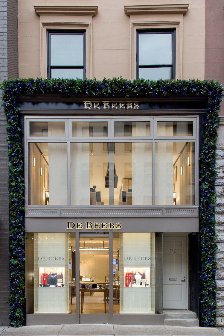 De Beers紐約麥迪遜大道旗艦店。圖/De Beers提供