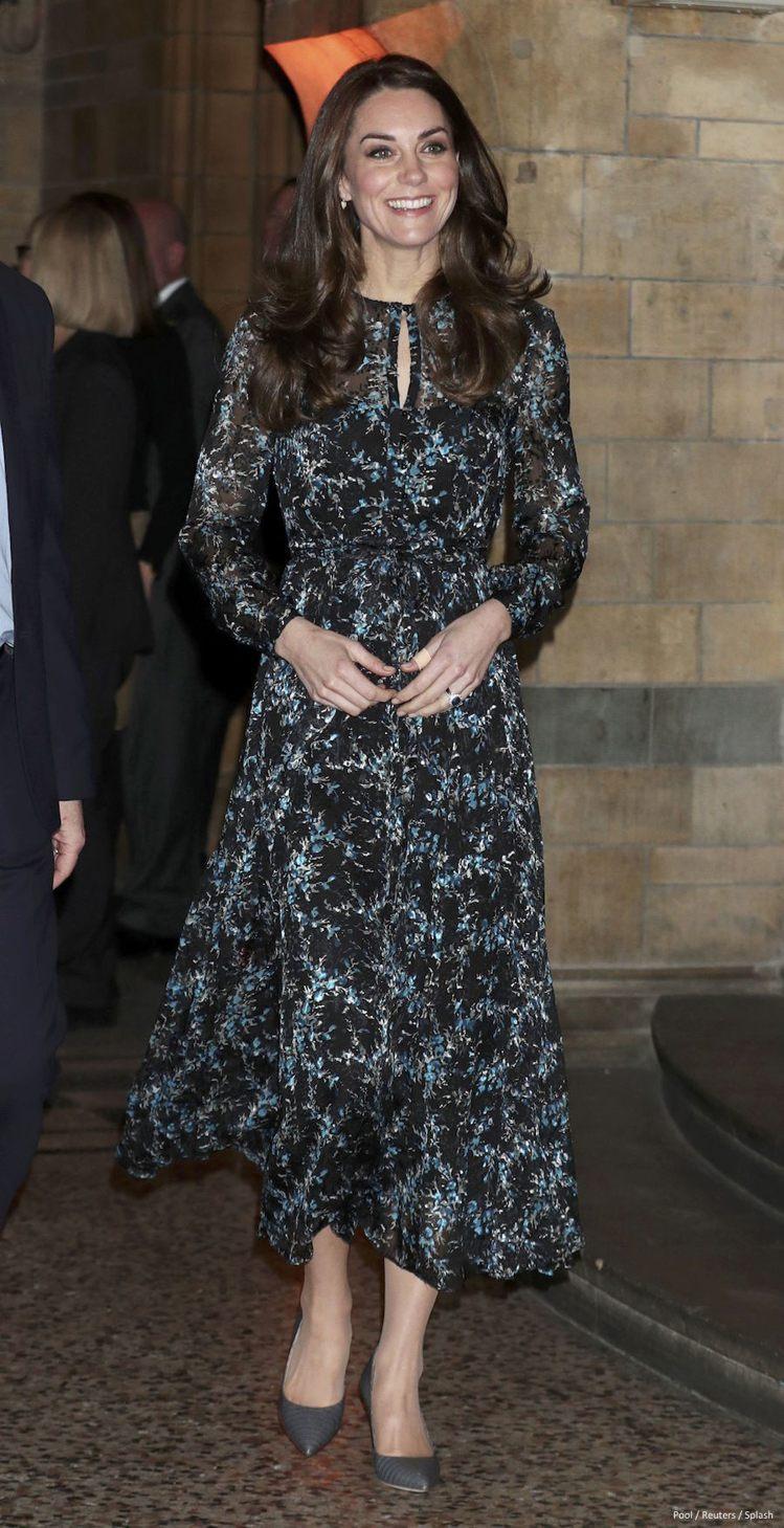 凱特王妃穿英或國輕奢品牌L.K.Bennett洋裝,如今在台灣也買得到。圖/路透